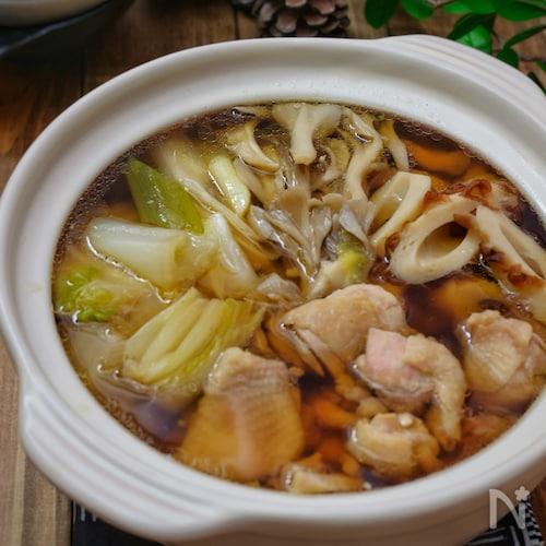 温まります!*簡単絶品鍋つゆ鶏鍋*