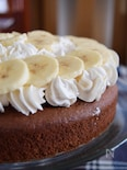 ホットケーキミックスで作るチョコレートバナナケーキ