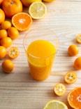 3種の柑橘ジュース。金柑、みかん、レモンで手作りドリンク♪