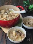 *きのこと蓮根と長芋と鶏もも肉のオイスタークリーム煮*