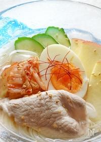 『水と鶏がらスープの素で簡単。美味しい。「韓国冷麺風そうめん」』
