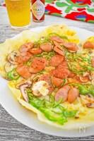 【フライパンで作る】餃子の皮ピザ