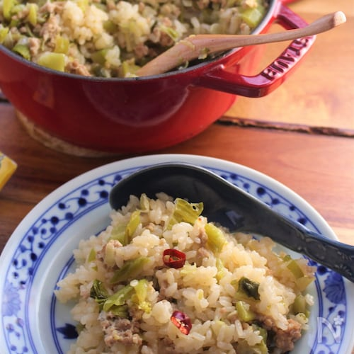 高菜の中華風炊き込みご飯