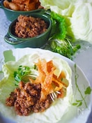 【レンジ肉味噌】万能肉味噌*ご飯に麺に野菜に包んでお豆腐♪