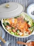 ワンポットで簡単!マカロニチーズミートソース鍋