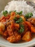 大豆ミートと根菜のトマト煮