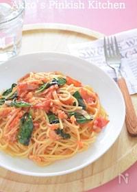 『トマトと自家製バジルのパスタ』