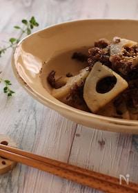 『レンコンと牛肉の甘辛炒め』