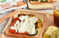 グリル野菜のオープンサンド*クリームチーズのせ