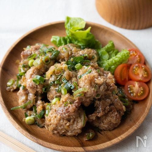 『ねぎまみれ!甘酢鶏唐揚げ』#長ねぎ#お弁当