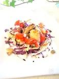 カロリーを控えた牡蛎のバルサミコ酢サラダ