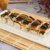 塩鯖と明太子で。めんたい焼き鯖寿司。