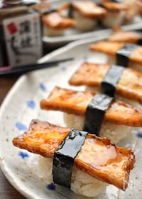 『食べてびっくり(笑)止まらない旨さ♡厚揚げde穴子寿司風♡』