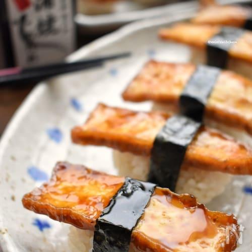食べてびっくり(笑)止まらない旨さ♡厚揚げde穴子寿司風♡