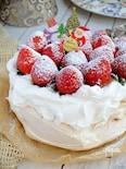 クリスマスにも簡単♡苺のパブロバ!【型要らず】
