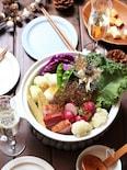 彩り野菜のキラキラジュレ鍋