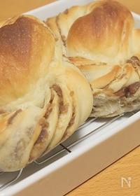 『豆腐のねじりパン マロン味』