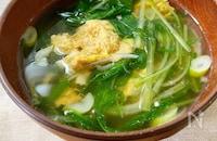 水菜と卵のすまし汁