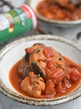 鶏もも肉となすのトマト煮【作り置き】