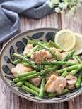 シンプルが美味しい♡鶏もも肉とアスパラの塩レモンペッパー