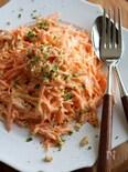 にんじんと水切りヨーグルトのサラダ。
