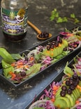 ブルーベリーとベビーリーフのアボガドサラダ