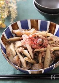 『食感も楽しめる簡単副菜♡ごぼうとこんにゃくとツナの甘辛炒め』