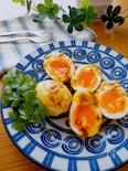 子供ウケもよいおつまみ卵♡半熟卵のカレーマヨ焼き