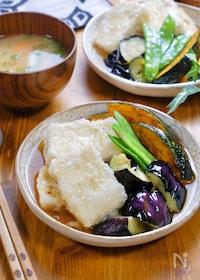 『優しい味♪お店みたいな『揚げだし豆腐と素揚げ野菜』』