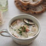 覚えておきたい万能レシピ!『きのこの白だし豆乳スープ』