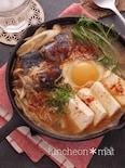 ☆サバ缶で簡単スンドゥブチゲ☆一人鍋♬根菜入りで冷え防止