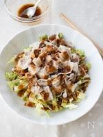 『白菜と豚しゃぶのピリ辛味噌だれサラダ』#簡単#ドレッシング