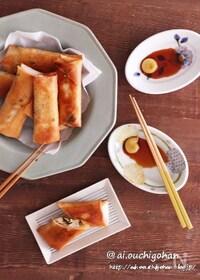 『包丁不要♡鶏ひき肉と豆苗の簡単春巻き♡』