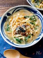 さば味噌煮缶で焼肉屋さんスープ