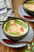 レンジで作る*豆腐クリームの茶碗蒸し