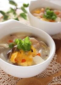 『エビと豆腐のとろみスープ』