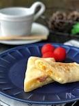 玉子焼き器で*ほんのり甘いブリトー風ウインナーコーンチーズ*