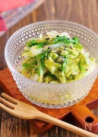 『やみつき♪サッパリ副菜♪『湯かけ白菜の塩だれナムル』』