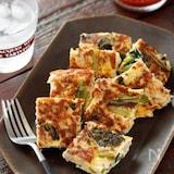 小松菜とひき肉のチーズオムレツ【#作り置き#お弁当】