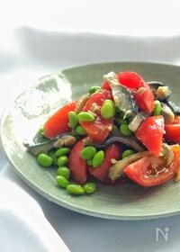 『*トマトとシメサバと枝豆のサラダ*』