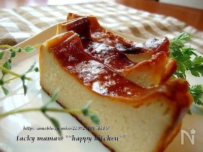 クリームチーズなしで♪さっぱりで濃厚ベイクドチーズケーキ