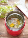 【スープジャー】新玉ねぎとかぼちゃの甘いスープ