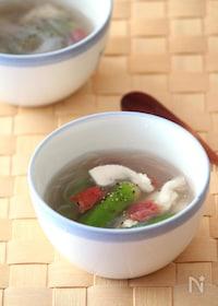 『つるるんささみとオクラの冷製梅スープ』