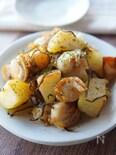 シンプルな味が美味い!ベビーホタテとジャガイモの塩昆布炒め