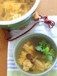 旨きのこのシンプル卵スープ