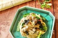 『味付海苔を使って♡』牡蠣と小松菜の和風海苔パスタ