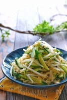 戻し不要!きゅうりともやしと切り干し大根のナムル風サラダ