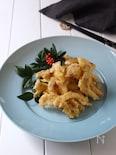 エリンギで、まるで松茸の天ぷら