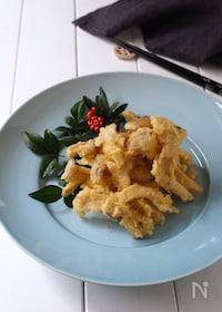 『エリンギで、まるで松茸の天ぷら』