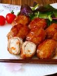 白身魚揚げ肉巻きの生姜焼き